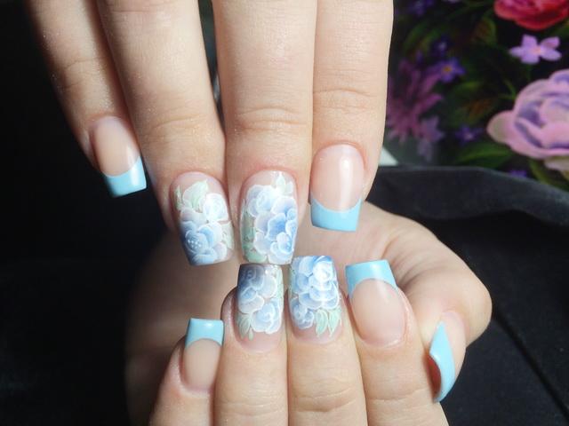 Дизайн ногтей шелка
